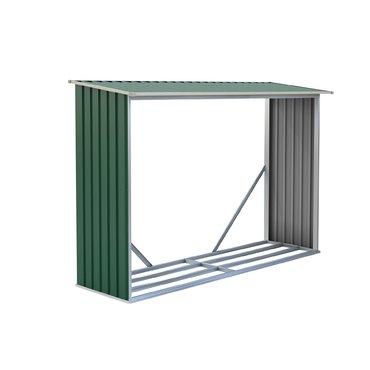 Dům a zahrada - G21 Přístřešek na dřevo WOH 181 - 242 x 75 cm, zelený
