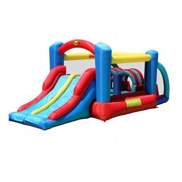 Pro děti, hry, hračky - Happy Hop skákací hrad a hrací centrum Nová překážková dráha