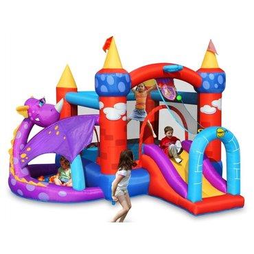 Pro děti, hry, hračky - Happy Hop Luxusní skákací atrakce hrad Dráček
