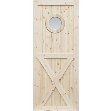 Dveře a zárubně - Borovicové dveře DESIGN LINE, model OX