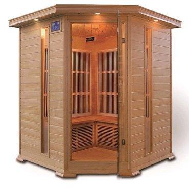 Infrasauny a sauny - HealthLand INFRASAUNA DeLuxe 4005 CARBON rohová