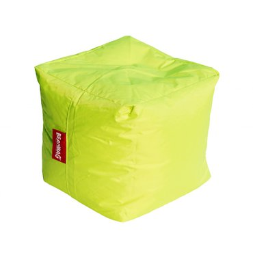Dům a zahrada - BeanBag Sedací vak cube fluo limet