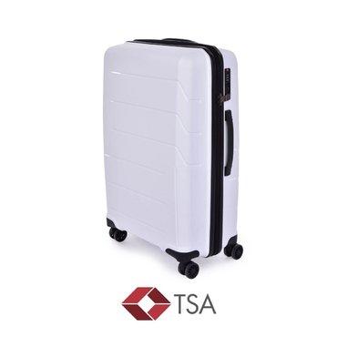 Domácí potřeby - Dedra TSA kufr střední, WHITE, 44 x 23 x 68 cm