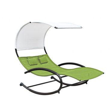 Dům a zahrada - Zahradní houpací postel Vivere Double Chaise Rocker, zelená