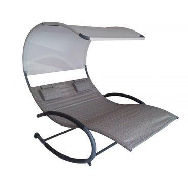 Dům a zahrada - Zahradní houpací postel Vivere Double Chaise Rocker, Sienna