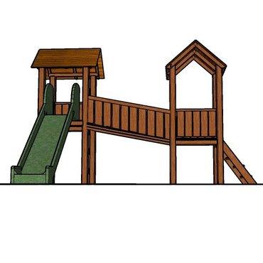 Pro děti, hry, hračky - Dětské hřiště Vladeko 2 se skluzavkou