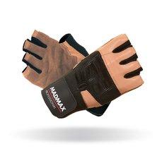 MADMAX Fitness rukavice PROFESSIONAL BROWN MFG269