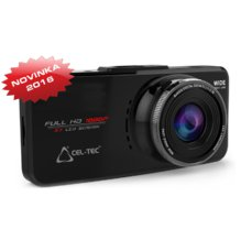 Palubní kamera CEL-TEC E08s GPS, CZ menu - černá