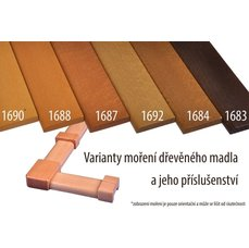 DM2 - madlo panelákové dřevěné buk masiv 1683 + lak