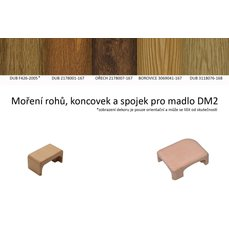 DA2 - roh levý panelákového madla dub - dub 3118076-168 + lak