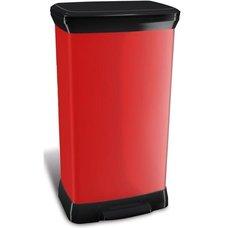 Odpadkový koš DECOBIN pedal 50l - červený