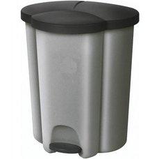 Koš odpadkový pedálový na tříděný odpad TRIO