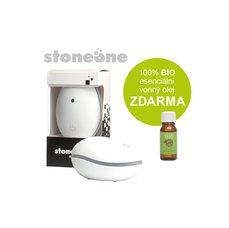 Stoneone ultrasonický aroma difuzér HANSCRAFT, bílá + 100% BIO esenciální vonný olej ZDARMA