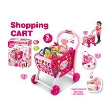 G21 Nákupní košík s melodií s příslušenstvím růžový 008-902
