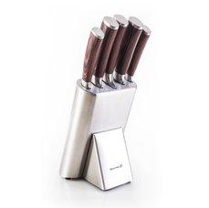 G21 Sada nožů Gourmet Steely 5 ks + nerez blok