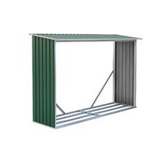 G21 Přístřešek na dřevo WOH 181 - 242 x 75 cm, zelený
