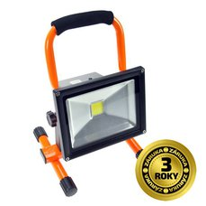 Solight Reflektor LED WM-20W-D přenosný s baterií, 20W,1600lm, oranžovo-černý