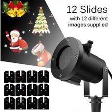 LED laser vánoční projektor IQ-L 30 MULTI GOBO