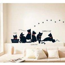Samolepka na zeď - Milované kočky - Nalepovací tabule