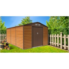 G21 Zahradní domek GAH 1300 - 340 x 382 cm, hnědý