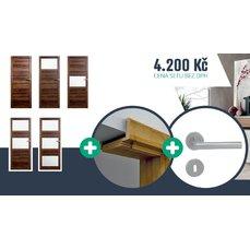 Akční set Interiérové dveře BRAGA  zárubeň a kování