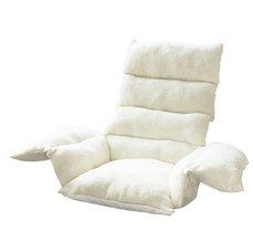 Relaxační podsedák s opěrkami 110 x 100 cm krémová