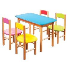 Dětský barevný stoleček Bart v48 x š63 x h35 cm