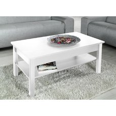 Konferenční stolek Simone, bílá matná