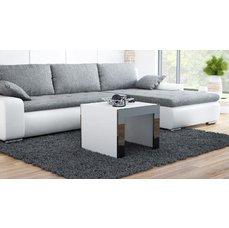 Konferenční stolek Terka čtverec, bílá/černá