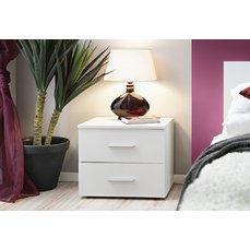 Noční stolek Mélaine, bílá matná/bílá matná