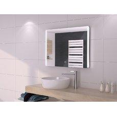 Immax Grande Candela 08232L  zrcadlo s LED podsvícením CCT, LCD s hodinami, 80x60cm