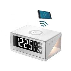 Immax 08957L LED budík Immax ALZATI s nočním podsvícením a bezdrátovým nabíjením QI