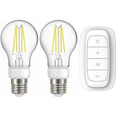 Immax 2x Neo SMART LED filament E27 6,3W, teplá bílá, stmívatelná, Zigbee 3.0 + ovladač