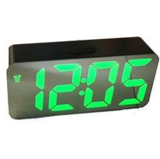 Stolní zrcadlové LED hodiny s budíkem, USB, zelený displej DS-3622X-MAX