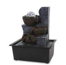 Dedra Kaskáda se zenovou koulí, pokojová fontána, s LED osvětlením, s LED osvětlením