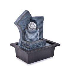 Kaskáda se zenovou koulí, pokojová fontána, s LED osvětlením, s LED osvětlením