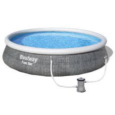 Bestway Bazén Fast Set Rattan 3,96 x 0,84 m - 57376