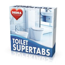 Dedra TOILET SUPERTABS samočistící tablety do WC odpadu, 10 tablet