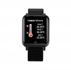 Smart watch Immax TEMP Watch black s teploměrem-app CZ i SK