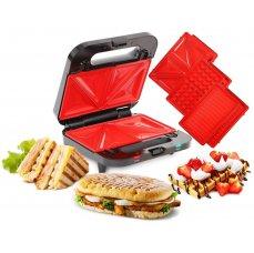 Dedra 4v1 sendvičovač, vaflovač, gril, panini GRIFLOVAČ, SYSTEMAT