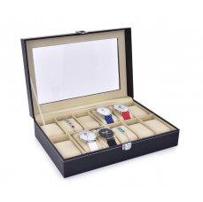 Dedra Luxusní kazeta na uložení hodinek, 12 přihrádek
