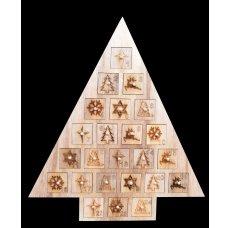 Dedra Adventní kalendář 40 cm, dřevěný