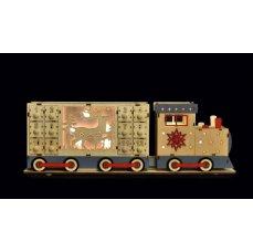 Dedra 50 cm Adventní kalendář dřevěný, oboustranný s LED osvětlením, dřevěný