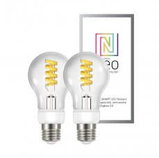 Immax NEO Smart sada žárovek filament LED 2xE27 5W teplá studená bílá stmívatelná Zigbee