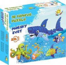 Kids World 3D pěnové puzzle Mořský svět 235 ks