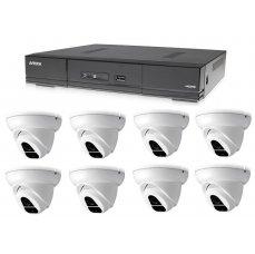 AVTECH Kamerový set 1x AVTECH DVR DGD1009AV a 8x 2MPX Dome kamera AVTECH DGC1004XFT + ZDARMA 4X NAPÁJECÍ ZDROJ!