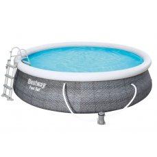 Bestway Bazén Fast Set Rattan 4,57 x 1,07 m - 57372