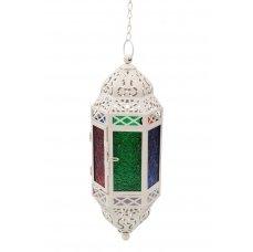 Dedra Závěsná lucerna, s barevnými výplněmi, slonovinová kost