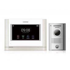 "Commax CDV-704MA bílý/DRC-40KHD , sada 7"" handsfree AHD videotelefonu a kovové dveřní stanice"