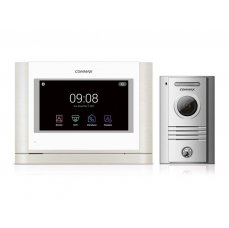 "Commax CDV-704MAD bílý/DRC-40KHD sada 7"" handsfree AHD videotelefonu a kovové dveřní stanice"